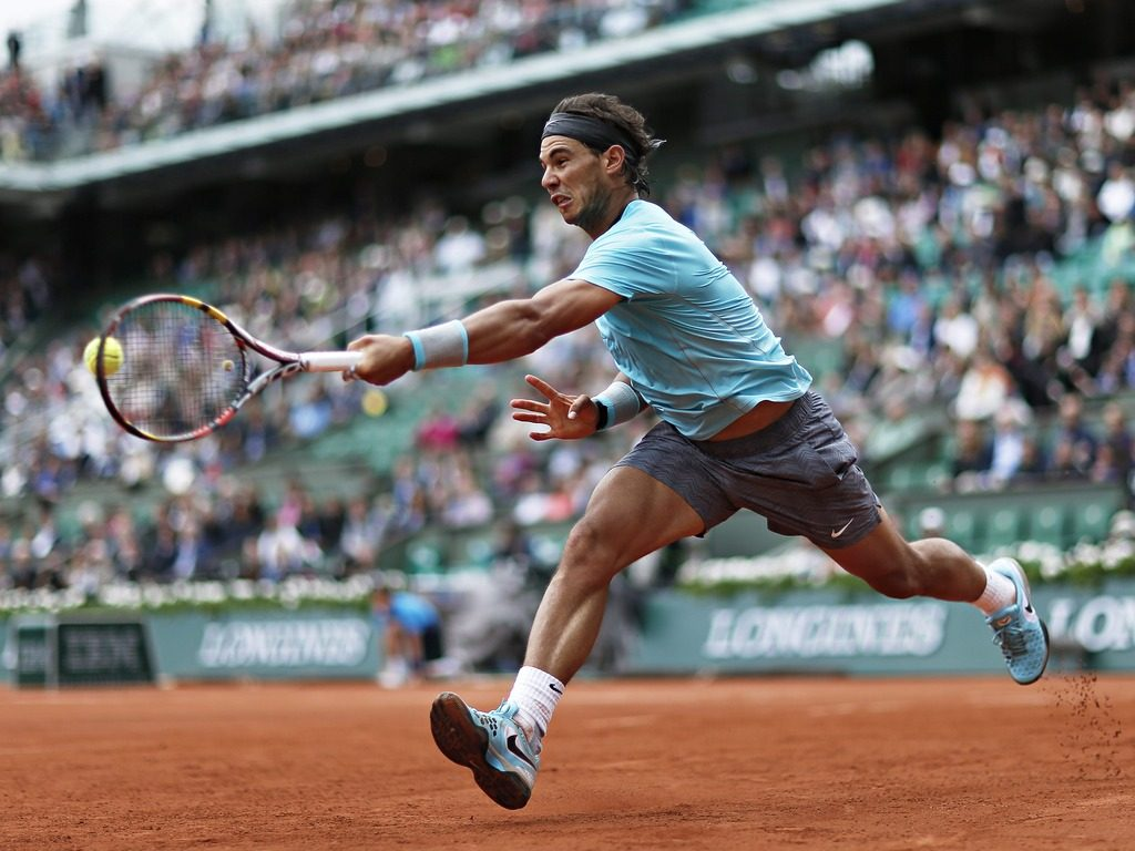 Nadal during his record-setting French Open run in 2014