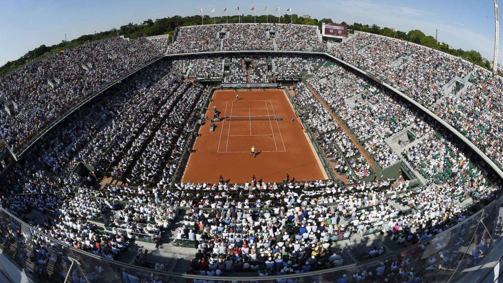 A packed Roland Garros Stadium in 2012